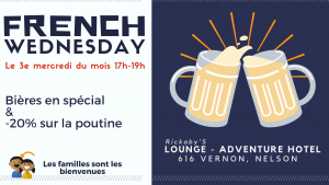ANNULÉ - CANCELLED - French Wednesday @ Adventure Hotel (Espace Lounge)