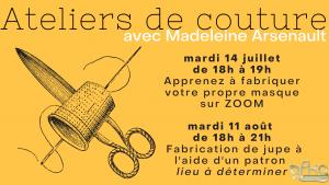 Atelier de couture avec Madeleine Arsenault @ Stitch Lab