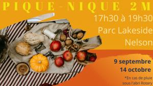 Pique-nique 2M Nelson // Édition Automne @ Parc Lakeside